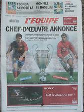 L'Equipe du 27 mai 2009 - Finale Ligue des champions - Tsonga - Monfils -