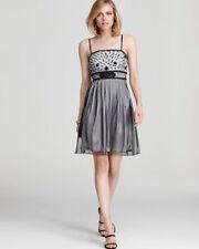 Sue Wong Black Platinum Mesh Embellished Semi-Formal Dress Size 0 NWT