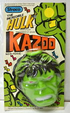 INCREDIBLE HULK GIANT KAZOO - HUM & PLAY 1979 Straco MOC Marvelmania