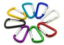 "20 Pack of 3"" Carabiner Spring Belt Clip Lot Snap Key Chain 75mm Aluminum color"