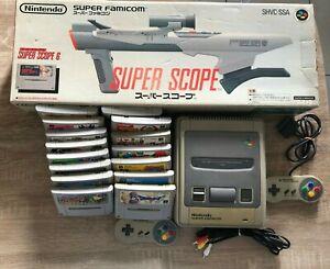 Lot Nintendo 15 jeux Super Famicom 1 console SFC  2 manettes 1 Super Scope SNES