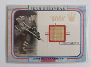 Jean Beliveau Montreal Canadiens 2002 Fleer Hockey Kings Game Used Stick