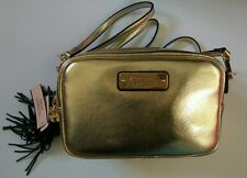 BNWT Victoria's Secret gold Handbag Purse adjustable/detachable strap VS tassle