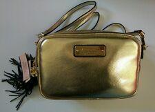 BNWT Victoria's Secret gold Handbag Purse adjustable/detachable strap VS tassle