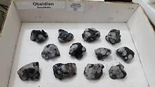 1 Small Natural Snowflake Obsidian Chunk