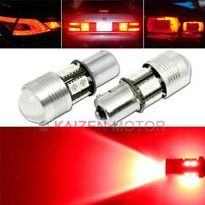 2x 15W Red 1156 7506 CREE LED 10-SMD Tail, Brake Light Projector Lens Bulb #Z12R
