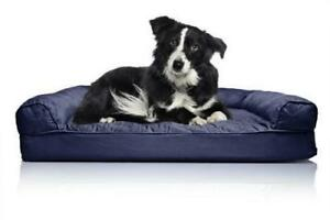 FurHaven Medium Quilted Orthopedic Sofa Pet Bed for Dogs and Cats - Navy