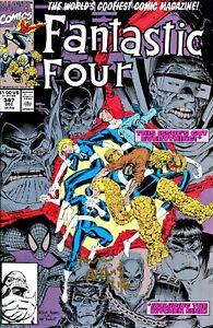 FANTASTIC FOUR #347 WOLVERINE , SPIDER-MAN , SIGNED BY ARTIST ARTHUR  ADAMS