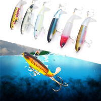 1PC Plopper Fishing Lure Topwater Rotating Tail VMC Hooks Bass Fishing Baits--