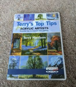 ACRYLIC ARTISTS Terry's Top Tips Terry Harrison Painting Region Free UK DVD