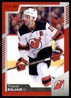 2020-21 UD O-Pee-Chee Red Border #12 Travis Zajac - New Jersey Devils