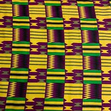 Kente African Print Fabric 100% Cotton 44'' wide sold by the yard (19004-1)
