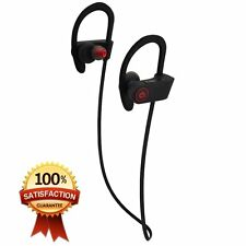 Bluetooth Wireless Sports Headphones Headset Earphones Earbuds with Ear-Hook New