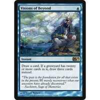 1x VISIONS OF BEYOND - Rare - M12 - MTG - NM - Magic the Gathering