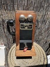 Antique Phone Gray Pay Station 3 Slot Coin Payphone On Old Wood Crank Phone