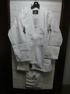 Gracie Jiu Jitsu Official GI 100% Cotton Uniform White Size 5/180