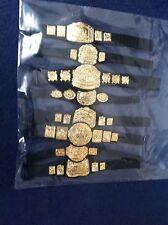 WWE Wrestling Figure  Belts For Figures x 8 Accessories Joblot Bundle