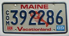 Maine 1989 LOBSTER GRAPHIC COMMERCIAL License Plate HIGH QUALITY # 392286