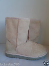 UGG AUSTRALIA WOMENS SHORT SHEEPSKIN  LIGHT PINK  BOOTS SIZE 5
