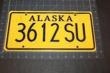 2004 Alaska License Plate 3612 Su