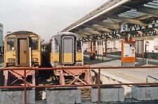 PHOTO  DORSET  WEYMOUTH RAILWAY STATION BUFFER-STOPS 1994