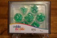 Oakie Doakie Dice RPG Set Life Counter Game Works with Twin Flip`n`Tray Green