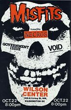 1980s vintage Punk Flyer - The Misfits Necros Void Government Issue