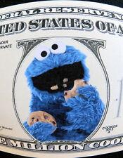 Cookie Monster FREE SHIPPING! Million-dollar novelty bill