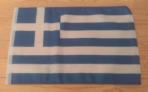 """GREECE FLAG - 45cm x 30cm - 18"""" x 12""""  - Greek Flag"""
