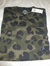 NWT HOLLISTER Medium Longline Men T Shirt Camo Green By Abercrombie Authentic