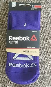 NEW! Reebok Youth (XS) All Sport Athletic Socks in Purple (Fits Size 9-1)