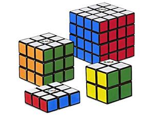 Rubik's Cube Solve The Cube Speed 4 PACK BUNDLE  Edge 4x4 2x2 3x3 3x3x1 Rubix