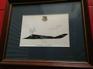 Limited Edition 50/50 US Airforce F-117A Nighthawk 37th TFW USAF Signed Picture