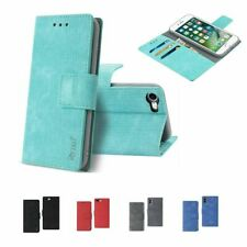 For iPhone Xs 7 8 Plus Shockproof Flip Wallet Card Holder Stand Case Cover Denim