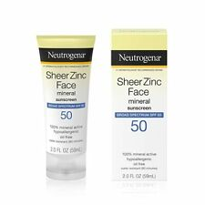 Neutrogena Sheer Zinc Face Dry-Touch Sunscreen Broad Spectrum SPF 50, 2 Fl....