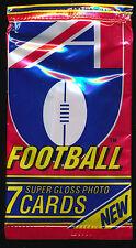 1992 Regina AFL unopened sealed pack each packet should hold 7 mint cards pack