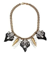 NEW LULU FROST FOR J. CREW COMPASS ROSE STATEMENT NECKLACE LUCITE $225