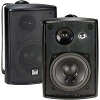 Dual Electronics Speakers 3-Way High Performance Indoor Outdoor Studio Shelf