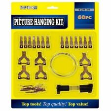60Pc PICTURE HANGING KIT Mirror/Photo Frame/Canvas Wall Mounted Hooks/Nail/Wire