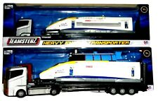Truck and Trailer Carrying Train Model Toy Choice Of Steam or Euro Trains NEW