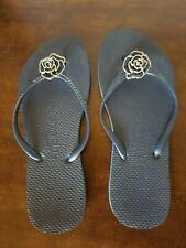 FLIPOUT NAVY Blue FLIP FLOPS SIZE 7-8 Shoes