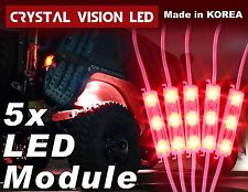 Crystal Vision LED 4X4/OFF ROAD/JEEP Under Body Rock Lights Bright Red (5 PCS)