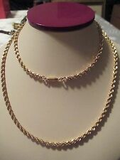 """VINTAGE 30"""" HEAVY SIGNED """"KREMENTZ"""" GOLD OVERLAY ROPE NECK CHAIN NECKLACE-32.4 G"""