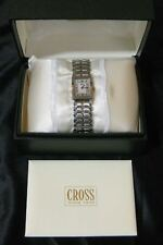 NOS AT Cross Ladies Watch Wristwatch LW6A Gold Silver Tone Swiss Made Stainless