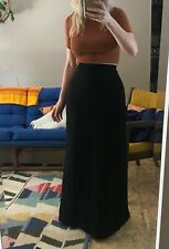 1960s-70s Vintage Women's maxi skirt black gothic size small waist 26 excellent