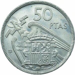 COIN / SPAIN / 50 PESETAS 1957 '60 UNC    #WT23602
