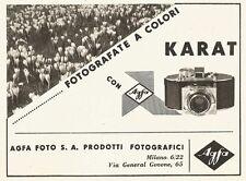 W2706 Fotografate a colori con Agfa KARAT - Pubblicità del 1940 - Old advert