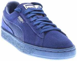 Puma Suede Classic Mono Reptile Lace Up  Mens  Sneakers Shoes Casual   - Blue -