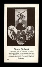 "santino-holy card""S.GEMMA GALGANI 10"
