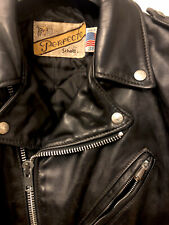 Giacca Pelle  Schott Perfecto US Nero Originale 618 Made in USA Vintage Leather